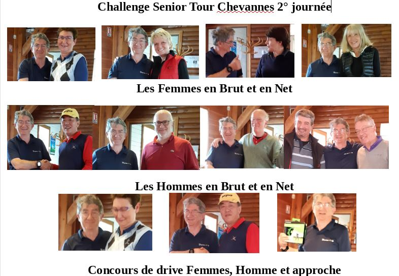 Recompenses Senior tour Chevanners 2018
